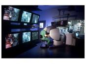English: A photo of a robotic surgery facility taken by Tewari's lab members in Weill Cornell Medical College.