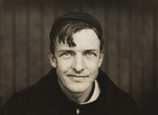 English: Portrait of baseball player Christy Mathewson as pitcher for the New York Giants. Gelatin silver photographic print