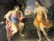 Incontro di Bradamante e Fiordispina (Encounter of Bradamante and Fiordispina), illustration to Orlando Furioso by Lodovico Ariosto