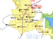 Map of the Las Vegas metropolitan area