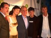 Oxfam America President Raymond C. Offenheiser, Wendi Deng, News Corp. CEO Rupert Murdoch and MySpace Founders Tom Anderson and Chris DeWolfe attend the Oxfam/MySpace Rock for Darfur event.