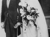 English: British politician Sir Oswald Ernald Mosley, 6th Baronet (1896-1980) and Lady Cynthia, née Cynthia Blanche Curzon (1898-1933), on their wedding day.