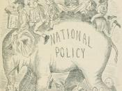 English: Sir John A. Macdonald and the Conservatives ride the National Policy into power in the 1878 election.