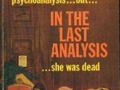 Cover of the 1966 Avon Books paperback edition of In the Last Analysis by Amanda Cross (Pseudonym of Carolyn G. Heilbrun). Cover art by Robert Abbett.