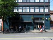 English: The controversial safe-injection site for the downtown eastside's hard drug addicts. In Vancouver BC Canada.