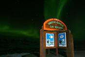 English: View of the Aurora Borealis (northern lights) at the Arctic Circle in Yukon, Northwest Territories.