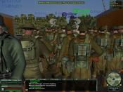 World War II Online simulation game showing the numbers of players during a special event in June 2008. Some 400 people had spawned in for this gathering in this location in the game.