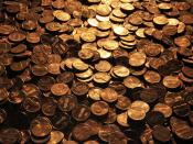 English: Large amount of pennies
