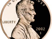 Lincoln memorial cent, with the S mintmark of the San Francisco mint.