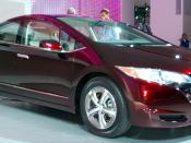 English: This is an image of the FCX Clarity Fuel Cell taken by BBQ Junkie at the 2007 Los Angeles Auto Show, shortly after the introduction of the vehicle on Wednesday November 14th, 2007. This photo is for the Honda FCX Clarity article.