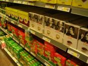 Swedish grocery store where private label products (under the brands Hemköp and Eldorado, Axfood) are placed along with other brands such as Knorr (Unilever) and Blå band (Campbell Soup).