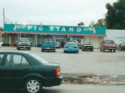 Cop Cars and Pig Stand
