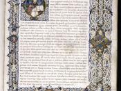 Folio 1r from a manuscript of Augustine's, City of God c. 1470