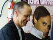 John Waters in New York City at the Chelsea Barnes and Nobles on 22nd and 6th Ave (now closed).