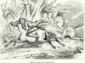 Ichabod pursued by the Headless Horseman