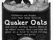 1905 Quaker Oats magazine advertisement