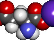 English: Space filling model of monosodium glutamate.