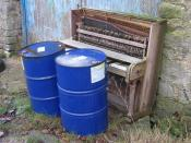 English: The Honky Tonk Blues Alternative title - Oil be playin' the Honky Tonk Blues. We have the piano and the drums, who's gonna sing?