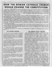 How The Roman Catholic Church Would Change the Constitution - NARA - 193129