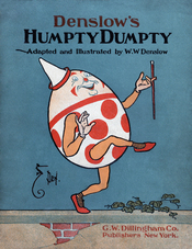 English: Cover of a 1904 adaptation of Humpty Dumpty by William Wallace Denslow.