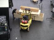 Photo of a fork-lift truck at the NEC, West Midlands, England