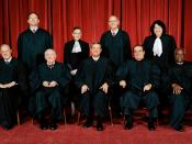 English: The United States Supreme Court, the highest court in the United States, in 2009. Top row (left to right): Associate Justice Samuel A. Alito, Associate Justice Ruth Bader Ginsburg, Associate Justice Stephen G. Breyer, and Associate Justice Sonia