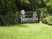 English: Huntsville, Texas sign -