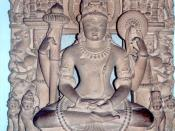 English: Vishnu with ayudhapurushas Español: Mathura, India