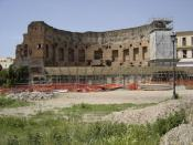 The southwestern exedra of the Baths of Trajan once housed one of the two libraries (Greek and Latin)