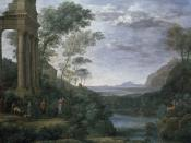 English: Ascanius Shooting the Stag of Sylvia (1682) by Claude Lorrain, oil on canvas, Ashmolean Museum, Oxford