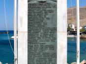 English: Plaque commemorating the evacuation by navy warships of British and ANZAC troops after the Battle of Crete in May 1941.