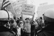 Iran Hostage Crisis student demonstration, Washington, D.C. Title devised by Library staff. Contact sheet folder caption: Iran students demonstrate. MST. U.S. News & World Report Magazine Photograph Collection. Contact sheet available for reference purpos