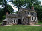 English: The headquarters of George Washington at Valley Forge, Pennsylvania.