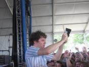 Nic Offer performing with !!! at Bonnaroo 2008
