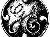 The original version of General Electric's circular logo and trademark. The trademark application was filed on July 24, 1899, and registered on September 18, 1900