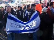 Aryan Guard protest against Israel