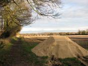 Fertiliser on field's edge - geograph.org.uk - 1605784