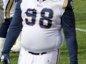 English: Fred Robbins, a player on the Saint Louis Rams American football team.