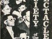 Cover of film The Society of the Spectacle, by Guy Debord, 1973