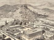 An artist's impression of ancient Olympia