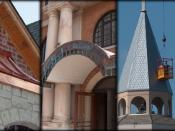 English: example of various architectural roof designs