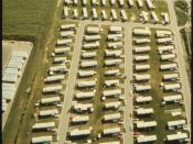 DUE TO THE INFLUX OF WORKERS IN THE MANUFACTURING FIRMS, TWO MOBILE HOME PARKS HAVE OPENED. THEY, TOO, REFLECT THE... - NARA - 558296