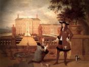 Hendrick Danckerts, Royal Gardener John Rose presenting a pineappel to King Charles II, 1675