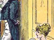 Detail of a C. E. Brock illustration for the 1895 edition of Jane Austen's novel Pride and Prejudice (Chapter 3)