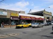 A mixed Hoa and Cambodian Chinese business district in Chicago