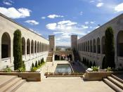 English: Australian War Memorial courtyard in Canberra, Australian Capital Territory.