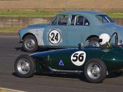 #56 James Elphick 1956 Gazelle Ford 10 Special & #24 Bruce Smith 1956 MG ZA Magnette