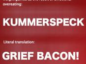 Kummerspeck - German word to describe weight gained due to emotional overeating