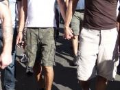 Gay couple at same-sex marriage march San Francisco 2008