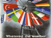 One of a number of posters created by the Economic Cooperation Administration to promote the Marshall Plan in Europe
